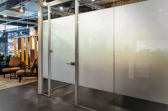Block frosted glass film by Glyphics